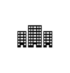building icon black on white vector image