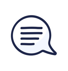 cartoon doodle speech bubble icon chat sign in vector image