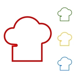 Chef cap sign Set of line icons vector image