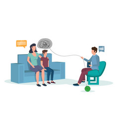 child psychology concept for poster vector image