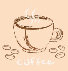 coffee 16 b vector image