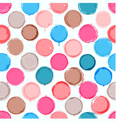 Colorful hand drawn pattern of circles vector