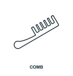 comb icon flat style icon design ui vector image
