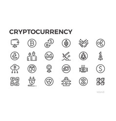 Cryptocorrency icons cryptography crypto vector