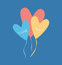 design of celebration love color balloons vector image