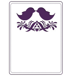 die cut card template with copy space vector image