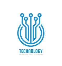 Digital technology - logo template vector