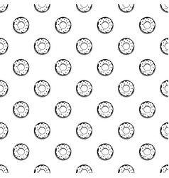 Donut pattern vector