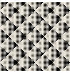 dots rhombus seamless monochrome pattern vector image