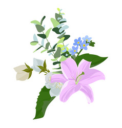 Drawing flowers vector