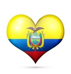 Ecuador Heart flag icon vector image