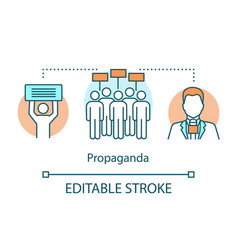 Election concept icon propaganda idea thin line vector