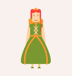 fairy tale royalty princess isolated female vector image
