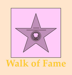 Famous popular talent star representing theatre vector