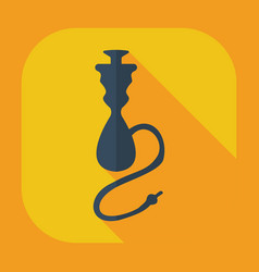 Flat modern design with shadow icons hookah vector