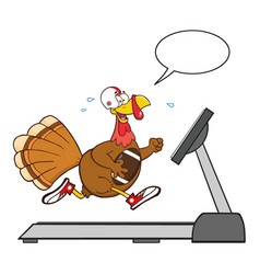 football turkey bird cartoon character running vector image