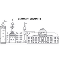 Germany chemnitz line skyline vector