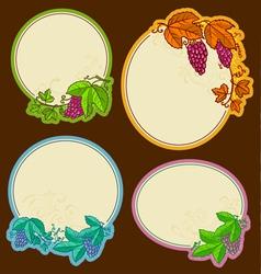grape frames vector image
