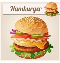Hamburger Food icon vector image