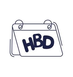 Happy birthday calendar reminder celebration vector