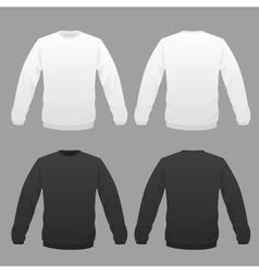 hoody white and black vector image