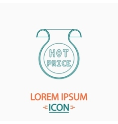 Hot price computer symbol vector image