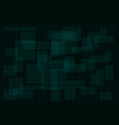 hud dark green background with thin grid design vector image