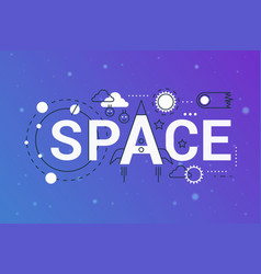 huge galaxy universe 2019 word trendy composition vector image