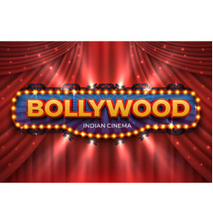 indian cinema background bollywood film poster vector image