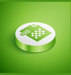 Isometric png file document download png button vector