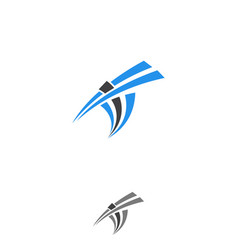 it letter vector image