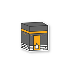 Kaaba patch vector