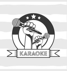 Karaoke retro style vector
