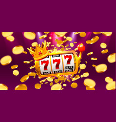 King slots 777 banner casino on coins vector