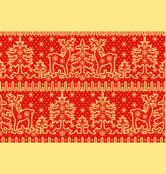 lace red background wirh deer vector image