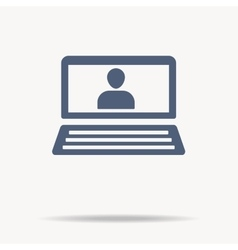 Laptop Icon user icon flat design vector image