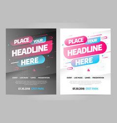 Layout design template for event eps 10 vector