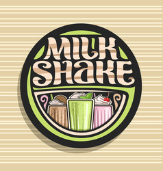 Logo for milk shake vector
