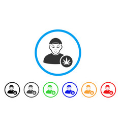 Marihuana dealer rounded icon vector