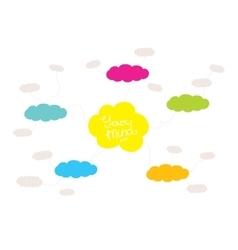 Mindmap hand drawn scheme infographic design vector