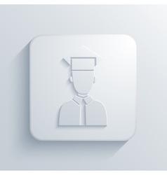 Modern student light icon vector