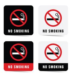 no smoking sign set vector image