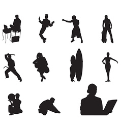 People silhouette - 04 vector