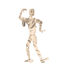 person in mummy costume for vector image