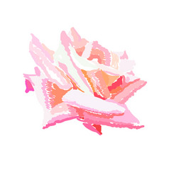 pink rosebud watercolor design element hand drawn vector image