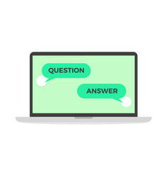question and answer in online chat computer vector image