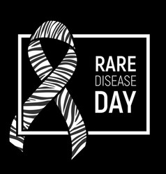 Rare disease awareness day vector
