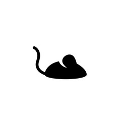 rat mouse icon vector image