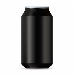 Realistic black aluminum can vector