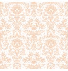 Seamless orange lace vector